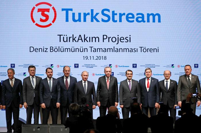 Ερντογάν και Πούτιν εγκαινιάζουν ένα τμήμα του αγωγού αερίου TurkStream
