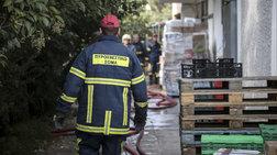 Φωτιά σε κτίριο στην οδό Λιοσίων