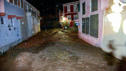 Μεγάλες καταστροφές από τις πλημμύρες στην Λέσβο