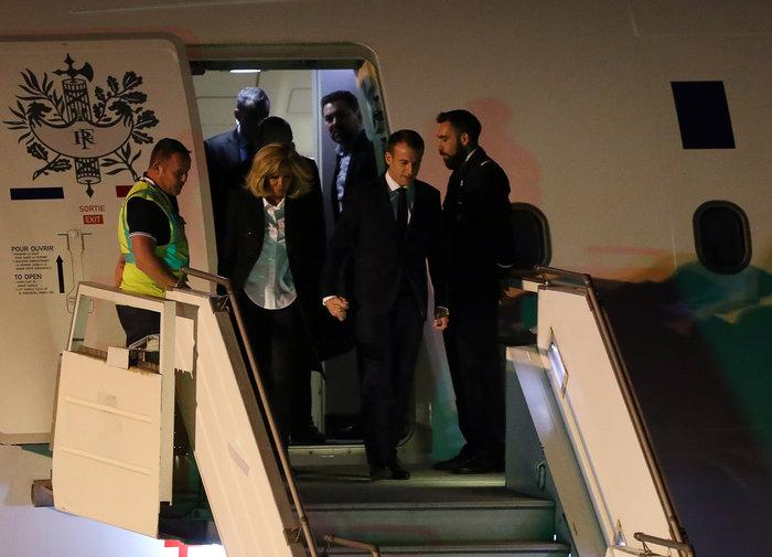 """Στο Μπουένος Άιρες, τον Εμανουέλ Μακρόν υποδέχθηκαν... """"κίτρινα γιλέκα"""""""