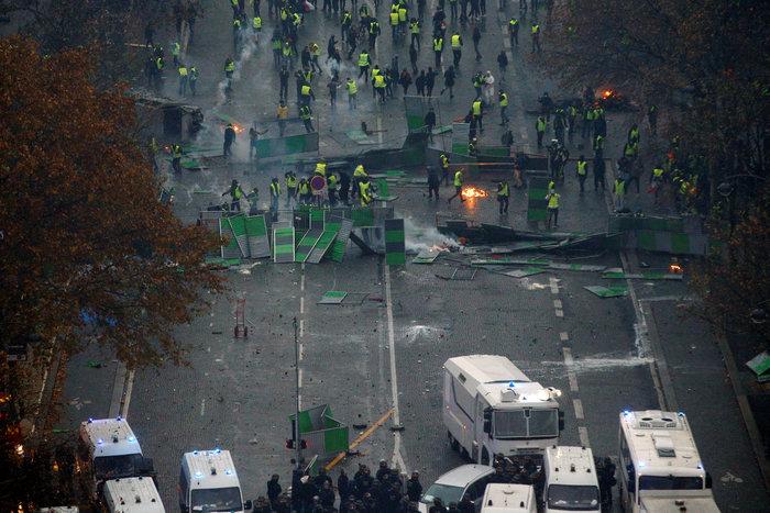 Επεισόδια στο Παρίσι: Ρεκόρ με 412 συλλήψεις και 133 τραυματίες
