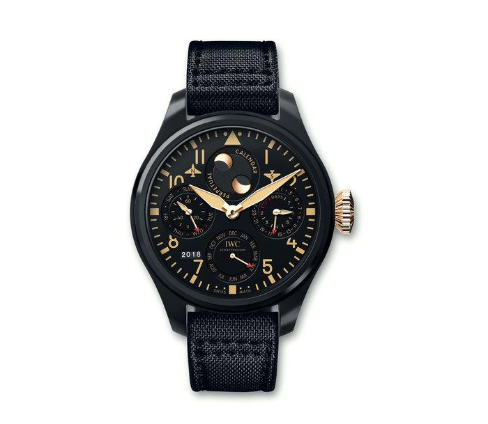 IWC Schaffhausen Big Pilot's Watch Perpetual Calendar Lewis Hamilton
