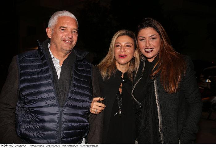 Η Μαργαρίτα Μάτσα με τον σύζυγό της Γιώργο Φραγκογιάννη και την Έλενα Παπαρίζου
