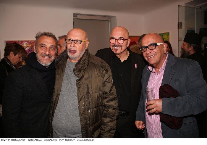 Ο Λάκης Παπαδόπουλος με τον Μίνωα Μάτσα, τον Γιώργο Καρτάλο και τον Γιάννη Ζουγανέλη