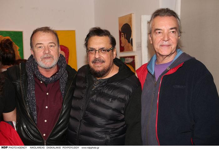 Ο Νίκος Ζιώγαλας, ο Λαυρέντης Μαχαιρίτσας και ο Γιάννης Μηλιώκας