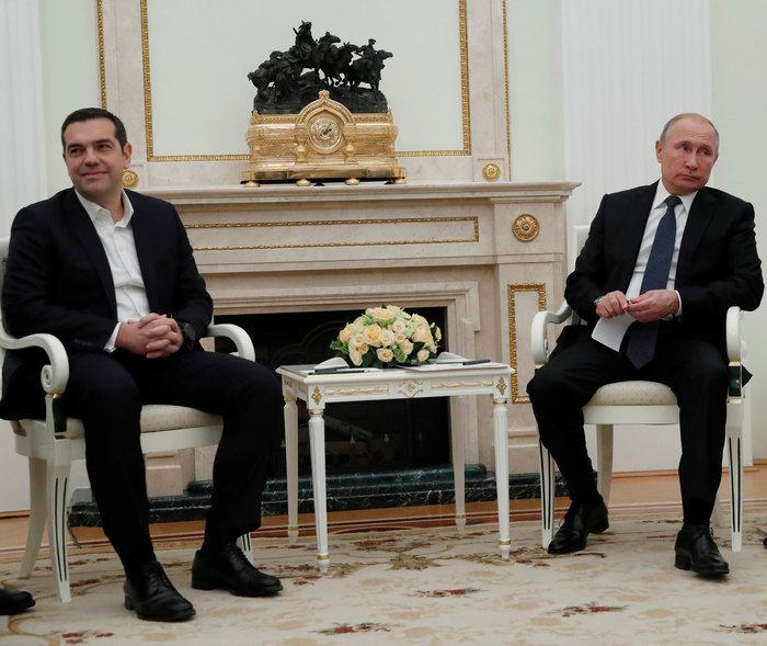 Σε εξέλιξη η συνάντηση Τσίπρα - Πούτιν στο Κρεμλίνο