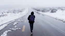 Πτώση της θερμοκρασίας και χιονοπτώσεις σε χαμηλά υψόμετρα - Βίντεο