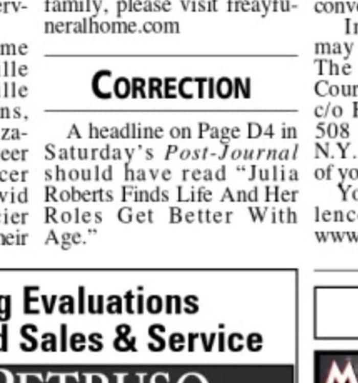 Το λάθος εφημερίδας που έκανε viral τη Τζούλια Ρόμπερτς - εικόνα 2