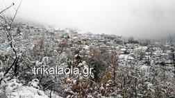 Kλειστά τα σχολεία στα Μετέωρα λόγω χιονόπτωσης