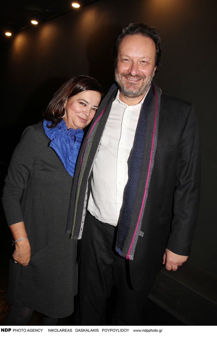 Ο Διονύσης Παναγιωτάκης με την Ελένη Κούρκουλα
