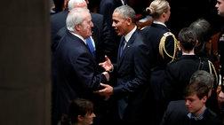 Με φωτογραφία με τη Μισέλ οι ευχές του Μπαράκ Ομπάμα