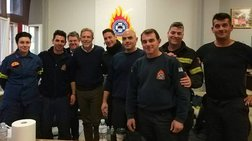 Επίσκεψη του Παύλου Γερουλάνου στο Αρχηγείο της Πυροσβεστικής