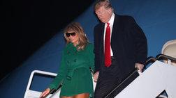 Μελάνια Τραμπ:Αυτός είναι ο λόγος που φόρεσε μαύρα γυαλιά μέσα στη νύχτα