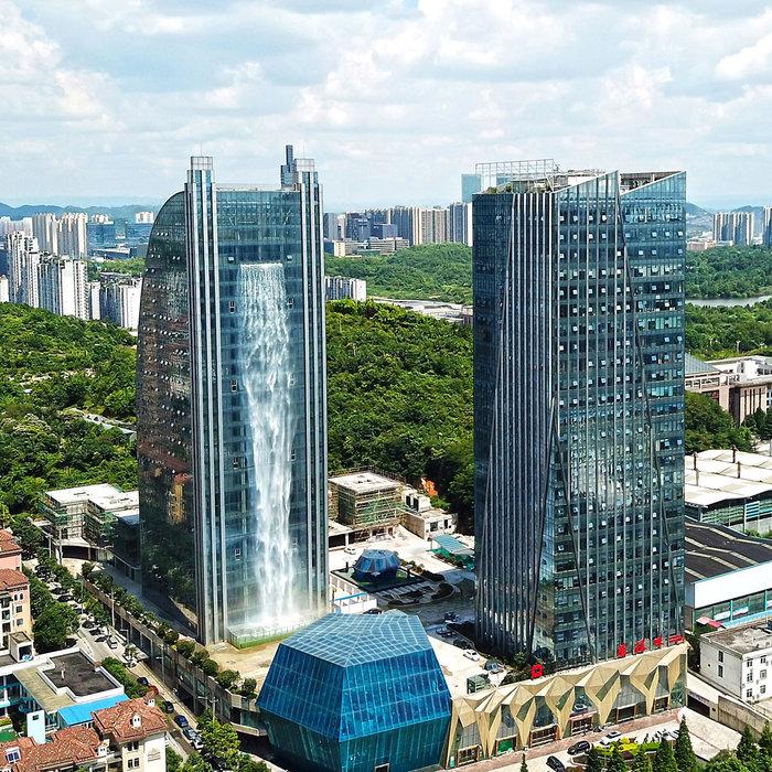 Ουρανοξύστες με καταρράκτες στην Κίνα, Ludi Industry Group