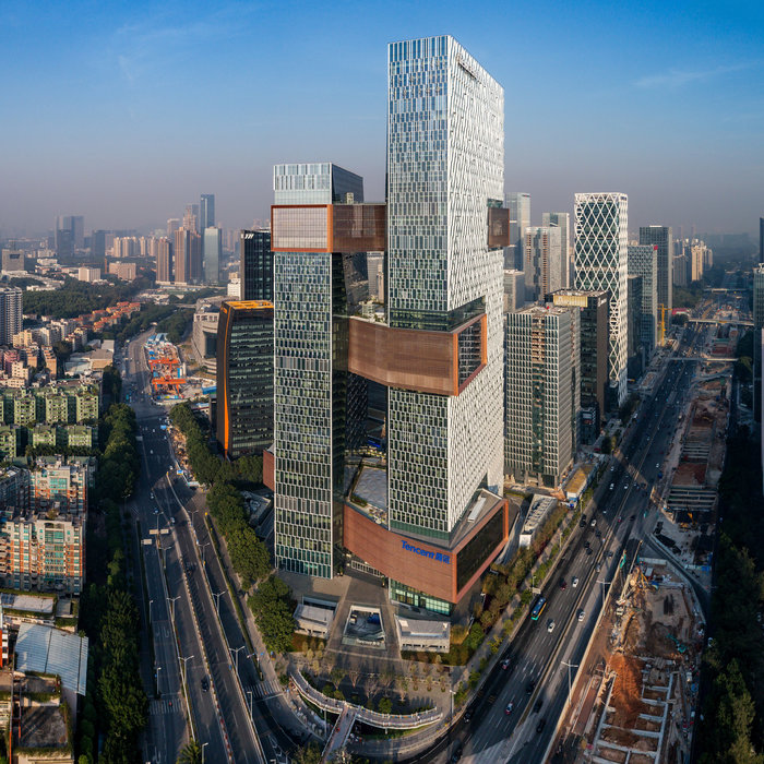 Ο κολοσσός τεχνολογίας Tencent , Κίνα, NBBJ