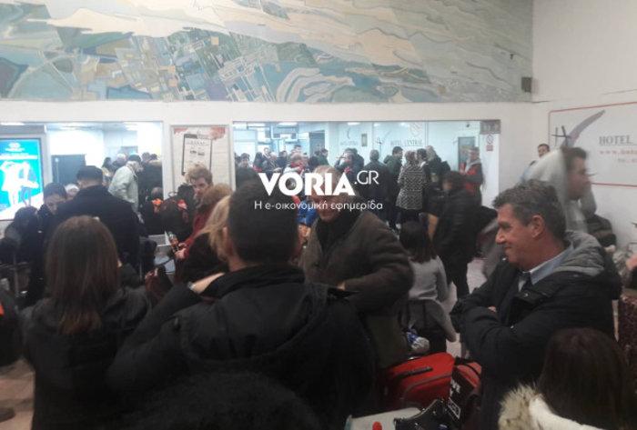 Γολγοθάς για χιλιάδες ταξιδιώτες στο αεροδρόμιο «Μακεδονία»