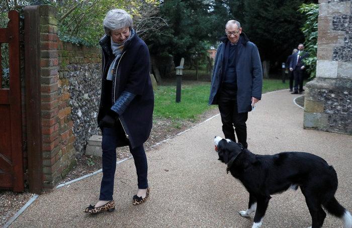 Όταν η Τερέζα Μέι συναντήθηκε με ένα ...αδέσποτο σκύλο - εικόνα 3