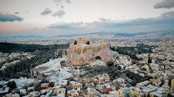 Η Ακρόπολη στα «λευκά» από ψηλά
