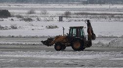 Προβλήματα από τον χιονιά στο αεροδρόμιο «Μακεδονία» - Φωτογραφίες