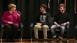 Συζήτηση εφ΄ όλης της ύλης της Μέρκελ με μαθητές στη Γερμανική Σχολή