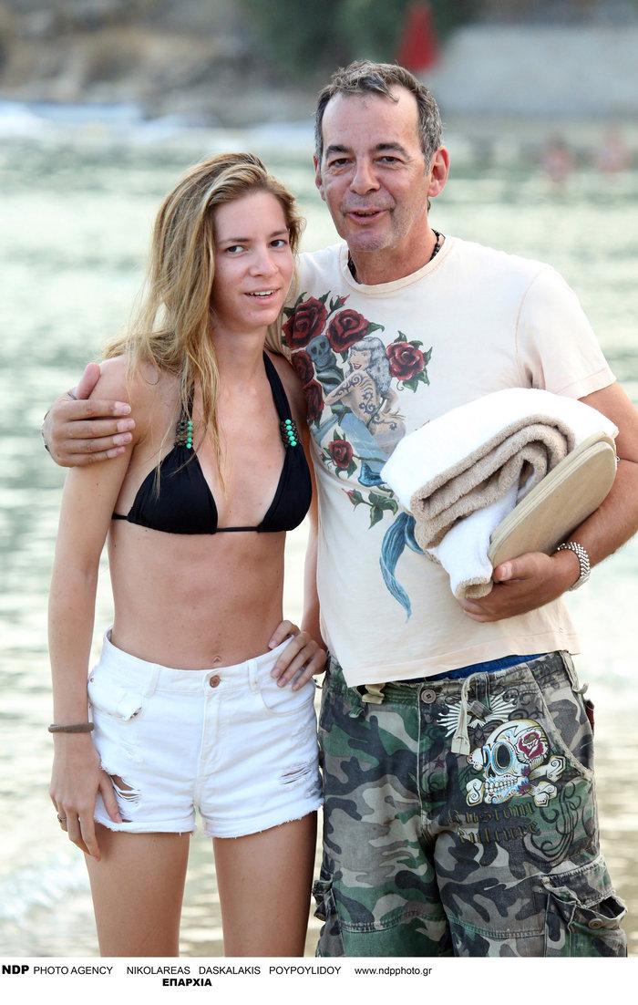 Με την κόρη του σε καλοκαιρινές διακοπές