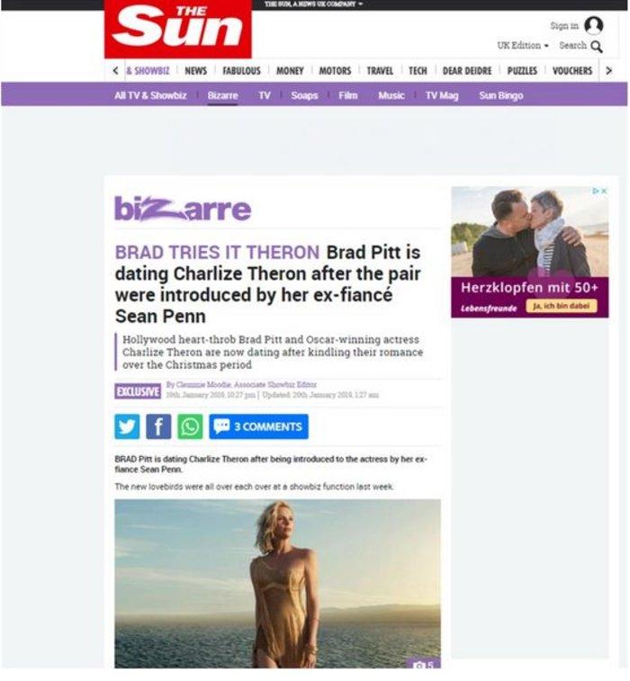 Βόμβα στη σόου - μπιζ: Είναι ζευγάρι οι Μπραντ Πιτ - Σαρλίζ Θερόν;