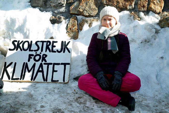 Η 15χρονη ακτιβίστρια από την Σουηδία στο Νταβός - εικόνα 2