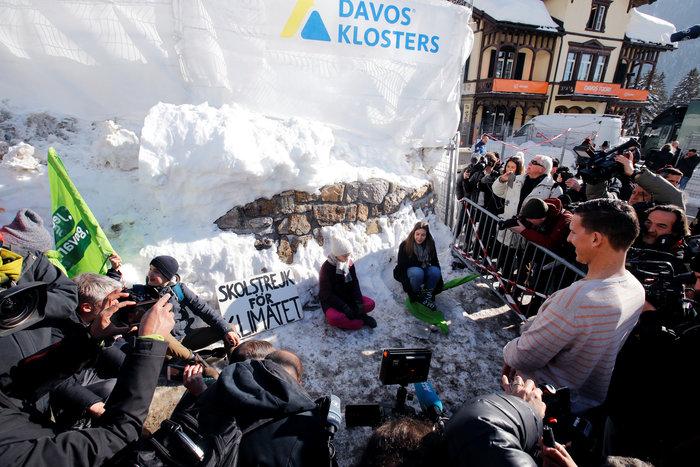 Η 15χρονη ακτιβίστρια από την Σουηδία στο Νταβός