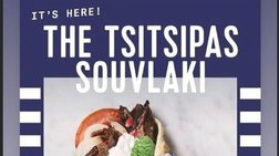 """Το """"Tsitsipas souvlaki"""" έγινε viral και ο Στέφανος τρελαίνεται για αυτό"""