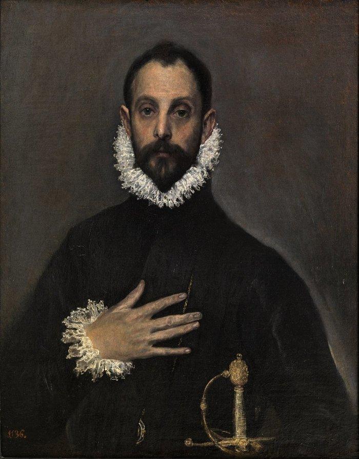 Ο ευγενής με το χέρι στο στήθος / Ελ Γκρέκο