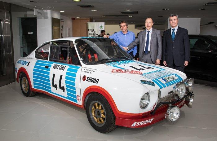 Ενα Skoda 130 RS 42 ετών ξεκίνησε από την Αθήνα για το Ράλι Μόντε Κάρλο