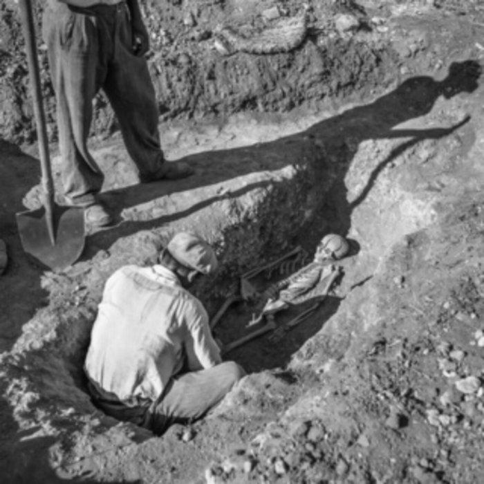 Ανακάλυψη τάφου. Μυκήνες 1955