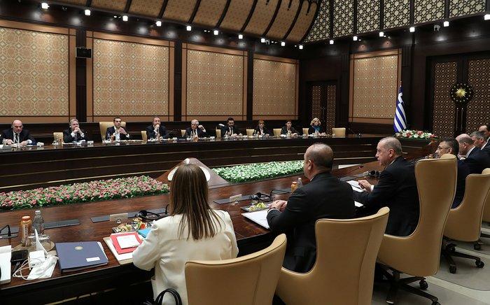 Άγκυρα: Ολοκληρώθηκε η συνάντηση Τσίπρα-Ερντογάν στο Προεδρικό Μέγαρο