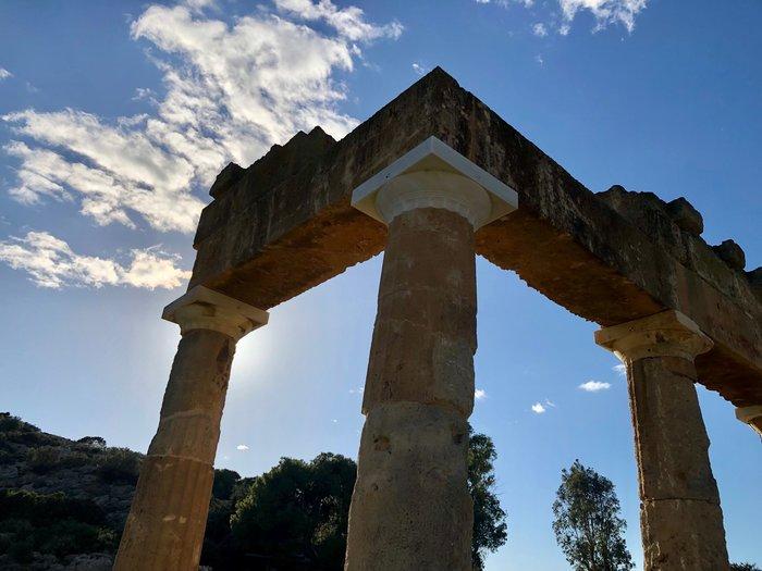 Άποψη του ναού της Αρτέμιδος.