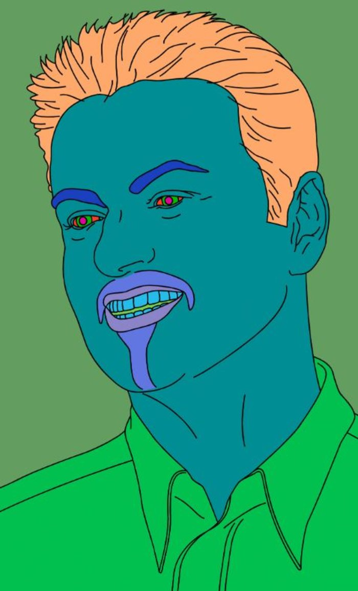 Michael Craig-Martin, Commissioned Portrait Untitled (George), 2007