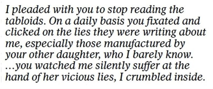 Το γράμμα της Μαρκλ στον πατέρα της: «Mου προκαλείς τόσο πόνο...» [Φωτο] - εικόνα 8
