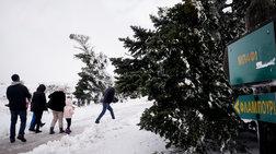 Xιόνια στα ορεινά της Αττικής-Πού χρειάζονται αλυσίδες