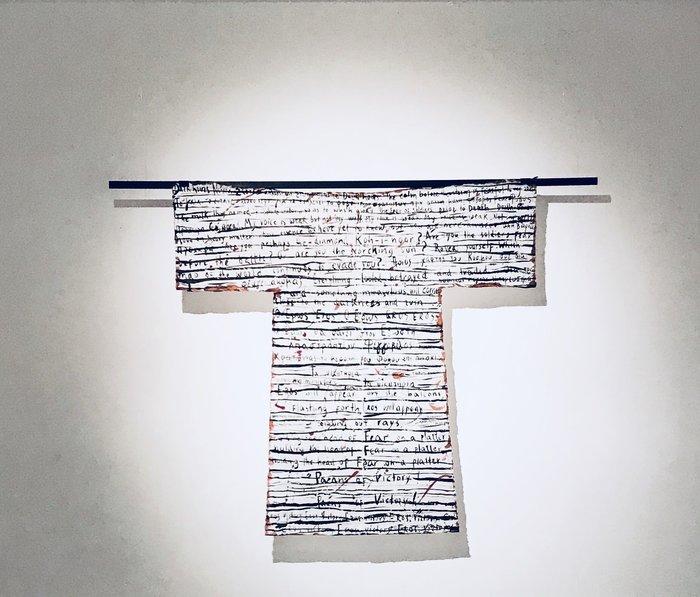 «Φυλακτήριος Μανδύας» ,σινική μελάνη και χαρτί, 150x150 cm, 2017