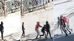 Άγρια επίθεση σε γυναίκα στη Θήβα για να τη ληστέψουν (βίντεο)