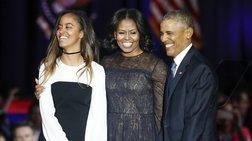 Τσέλσι Κλίντον καιΤζένα Μπους υπέρ της Μάλια Ομπάμα