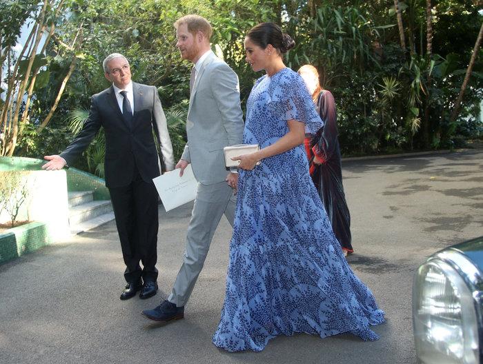 Μέγκαν Μαρκλ: Στο Μαρόκο με εξωτικό φλοράλ φόρεμα της Καρολίνα Χερέρα