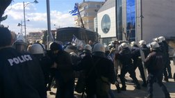 Ένταση κατά την επίσκεψη της Γεροβασίλη στην Πτολεμαϊδα,  πέντε τραυματίες
