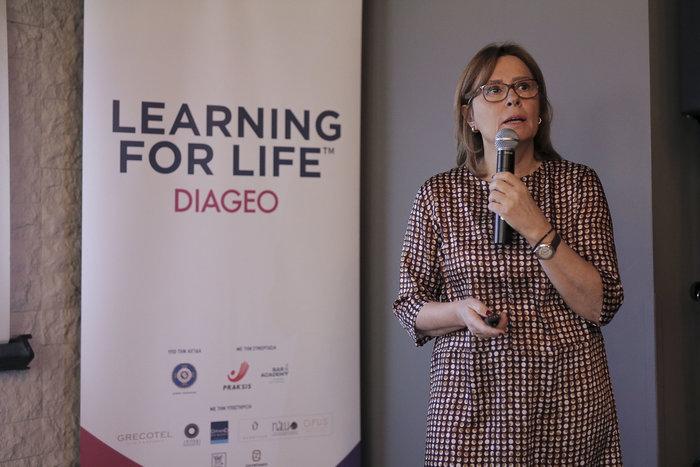 Η Αναστασία Αγγελή, Διευθύντρια Εταιρικών Σχέσεων, Diageo Ελλάδας παρουσιάζει το πρόγραμμα Learning for Life