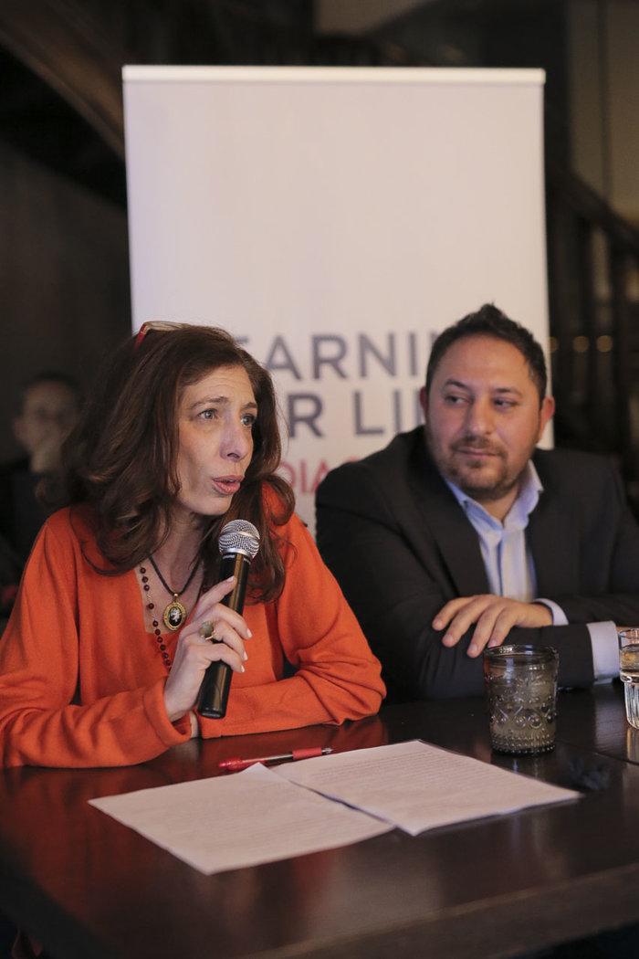 Η Μαρί Χάλακα, Διευθύντρια Ανεύρεσης Πόρων της PRAKSIS και ο Μπάμπης Καϊδαλίδης, Managing Director του Bar Academy στην επίσημη παρουσίαση του προγράμματος Learning for Life