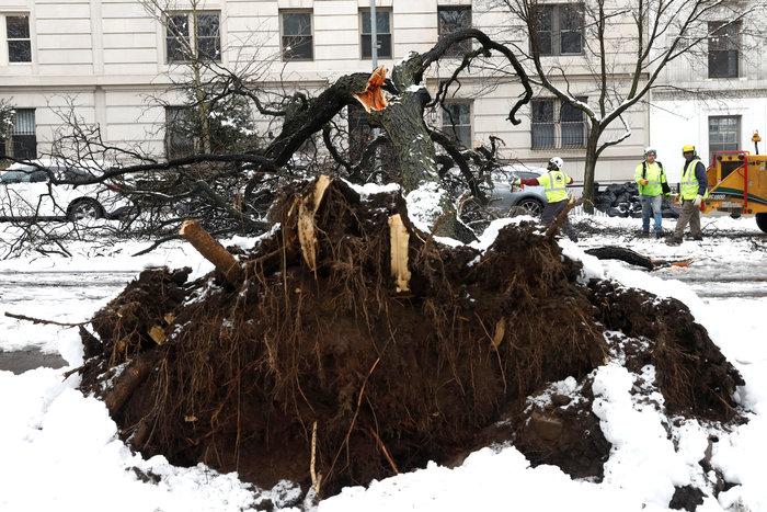 H Νέα Υόρκη αντιμέτωπη με τη σφοδρότερη χιονοθύελλα - Εικόνες - εικόνα 2
