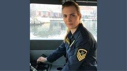 Η μόνη γυναίκα κυβερνήτης σκάφους του Λιμενικού στη Λέσβο