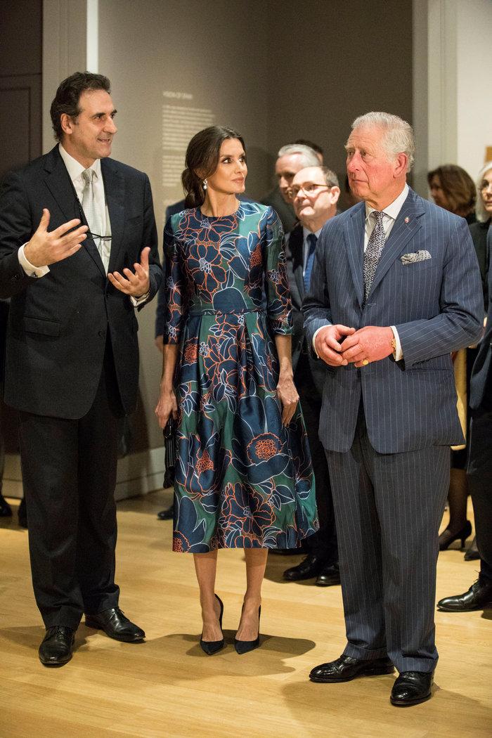Η Βασίλισσα Λετίσια κατακτά το Λονδίνο: Η κομψή εμφάνιση με απίθανο φόρεμα - εικόνα 3