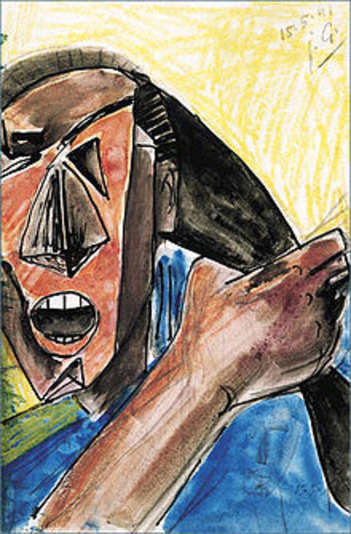 Visage criant a la grande main του Χούλιο Γκονζάλες