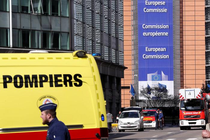 Aπειλή για βόμβα στις Βρυξέλλες κοντά στην Κομισιόν
