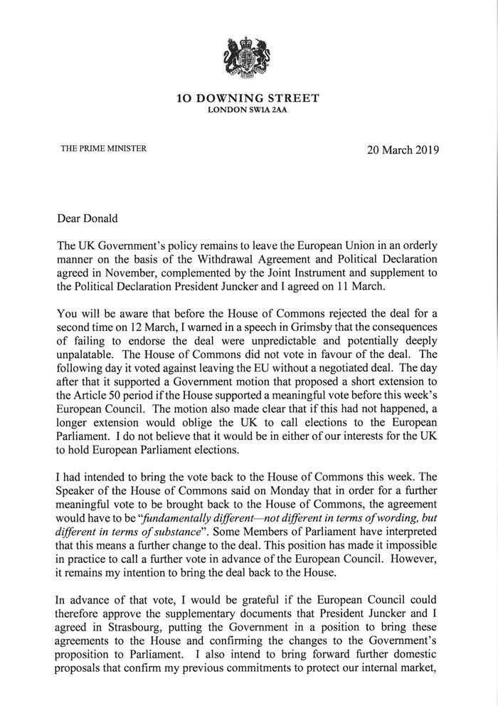 Τουσκ: Πιθανή μια σύντομη χρονική παράταση του Brexit